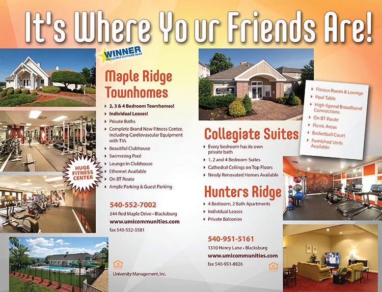 Collegiate Suites Hunters Ridge New River Valley Apartments